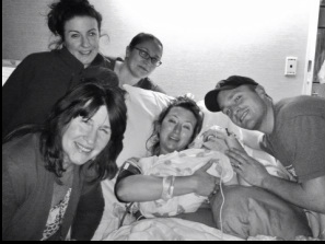Blissful family with Jennifer Knapp of Swaddled in Love Doula Services.  Norther Dutchess NY